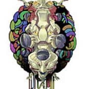 Robot God - Trinity 2.0 Print by Augustinas Raginskis