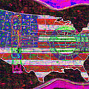 Rock And Roll America 20130123 Violet Print by Wingsdomain Art and Photography