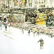 Rockefeller Center Skaters Print by Anthony Butera
