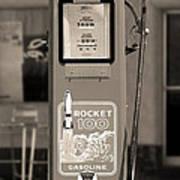 Rocket 100 Gasoline - Tokheim Gas Pump 2 Print by Mike McGlothlen