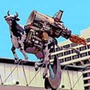 Rocket Cow Sculpture By Michael Bingham Print by Steve Ohlsen