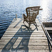 Rocking Chair On Dock Print by Elena Elisseeva