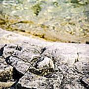 Rocks At Georgian Bay Print by Elena Elisseeva