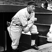 Rogers Hornsby Leaning On One Knee Print by Retro Images Archive