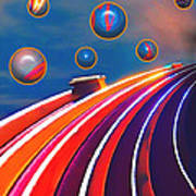 Rollerball Print by Wendy J St Christopher