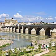 Roman Bridge In Cordoba Print by Artur Bogacki
