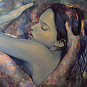 Romance With A Chimera Print by Dorina  Costras