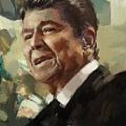 Ronald Reagan Portrait 5 Print by Corporate Art Task Force