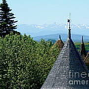 Rooftops Of Carcassonne Print by France  Art