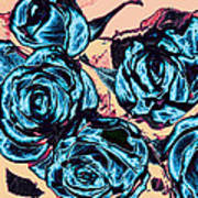 Roses For A Blue Lady  Print by Wendy J St Christopher