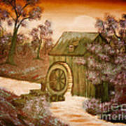 Ross's Watermill Print by Barbara Griffin