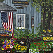 Round Swamp Farm By Alison Tave Print by Sheldon Kralstein