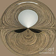 Round Wood Print by Anne Gilbert