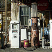 Route 66 Pumps Print by Bob Christopher