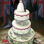Royal Wedding 2011 Cake Print by Martin Davey