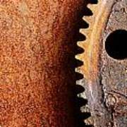Rusted Gear Print by Jim Hughes