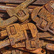 Rusting Wrenches Print by Robert Jensen