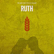 Ruth Books Of The Bible Series Old Testament Minimal Poster Art Number 8 Print by Design Turnpike