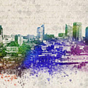 Sacramento City Skyline Print by Aged Pixel
