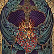 Sacred Heart Print by Ricardo Chavez-Mendez