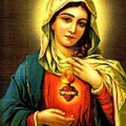 Sacred Heart Print by Unknown