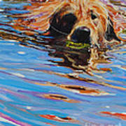 Sadie Has A Ball Print by Molly Poole