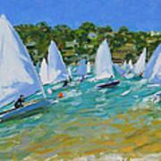 Sailboat Race Print by Andrew Macara