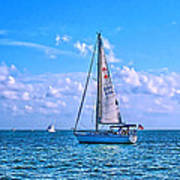Sailing Off Of Key Largo Print by Chris Thaxter