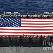 Sailors And Marines Display Print by Stocktrek Images