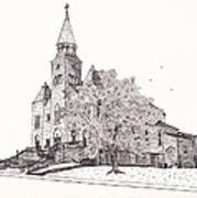 Saint Bridget Church Print by Michelle Welles