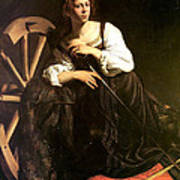 Saint Catherine Of Alexandria Print by Caravaggio