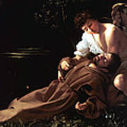 Saint Francis Of Assisi In Ecstasy Print by Caravaggio