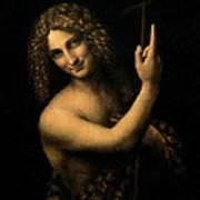 Saint John The Baptist Print by Leonardo da Vinci