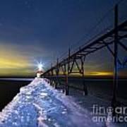 Saint Joseph Pier In Evening Print by Twenty Two North Photography
