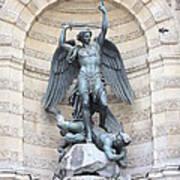 Saint Michael The Archangel In Paris Print by Carol Groenen