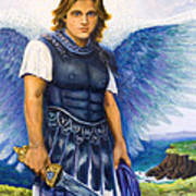 Saint Michael The Archangel Print by Patty Kay Hall