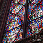 Sainte-chapelle Window Print by Ann Horn