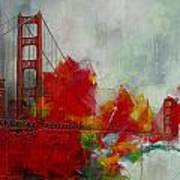 San Francisco City Collage Print by Corporate Art Task Force