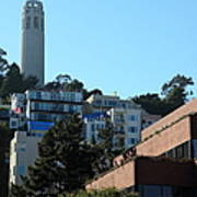 San Francisco Coit Tower At Levis Plaza 5d26193 Print by Wingsdomain Art and Photography