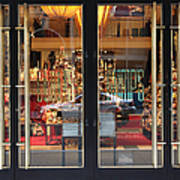 San Francisco Gumps Store Doors - 5d20585 Print by Wingsdomain Art and Photography