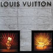 San Francisco Louis Vuitton Storefront - 5d20546-2 Print by Wingsdomain Art and Photography