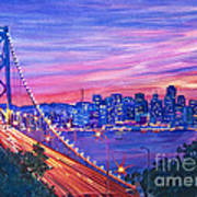 San Francisco Nights Print by David Lloyd Glover