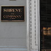 San Francisco Shreve Storefront - 5d20579 Print by Wingsdomain Art and Photography