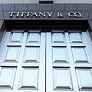 San Francisco Tiffany And Company Store Doors - 5d20562 Print by Wingsdomain Art and Photography