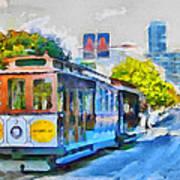 San Francisco Trams 4 Print by Yury Malkov