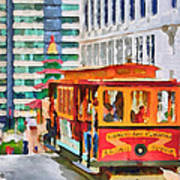 San Francisco Trams 6 Print by Yury Malkov
