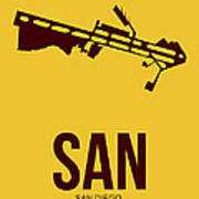 San San Diego Airport Poster 1 Print by Naxart Studio