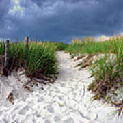 Sand Dune Under Storm Print by Olivier Le Queinec