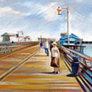 Santa Barbara Pier Print by Filip Mihail