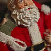 Santa Claus - Antique Ornament - 02 Print by Jill Reger